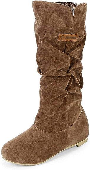 Minetom Femmes Filles Hiver Mode Chaud Bowknot D/écoration Bottes Avec Strass Bottes De Neige Bottines