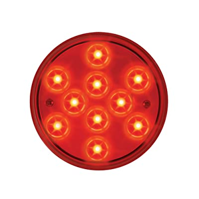 "Grand General 76842 Red 4"" Round Mega 10 Plus 10-LED Stop/Turn/Tail Sealed Light: Automotive"