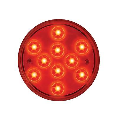 "Grand General 76842 Red 4\"" Round Mega 10 Plus 10-LED Stop/Turn/Tail Sealed Light: Automotive [5Bkhe0904728]"
