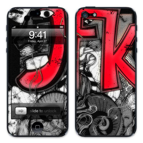 Diabloskinz B0081-0004-0064 Vinyl Skin für Apple iPhone 5/5S JFK
