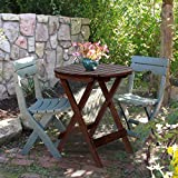 Mostbest Patio Bistro Round Table, Outdoor Folding