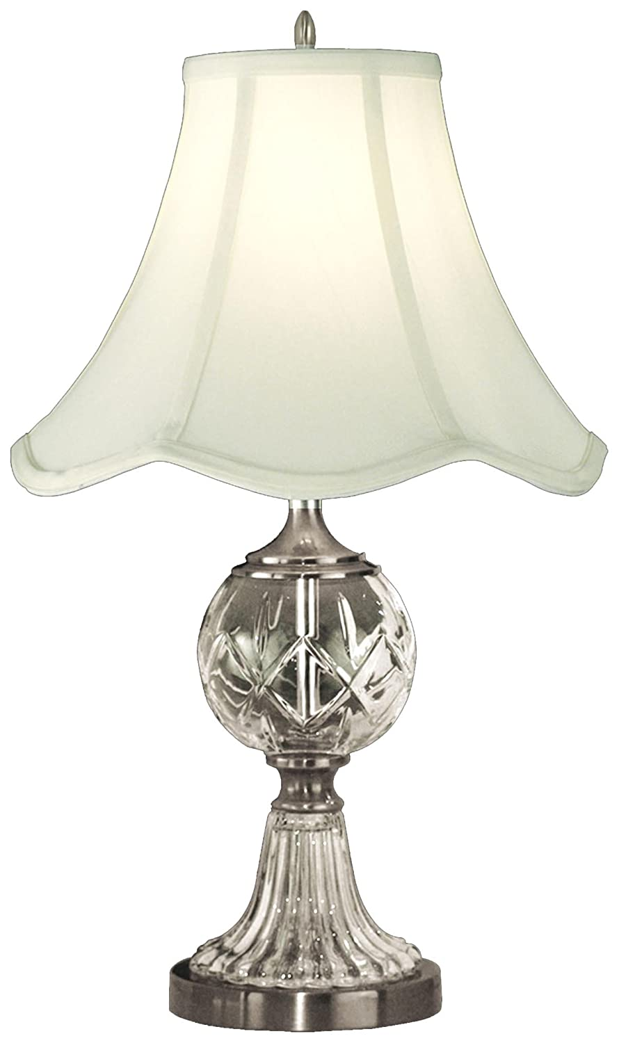Dale Tiffany GT10356 Crystal Table Lamp, Pewter And Fabric Shade   Glass  Crystal Table Lamps   Amazon.com