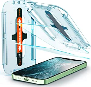 Spigen Tempered Glass Screen Protector [Glas.tR EZ Fit] designed for iPhone 12 Mini (2020) [5.4 inch] [Case Friendly] - 2 Pack