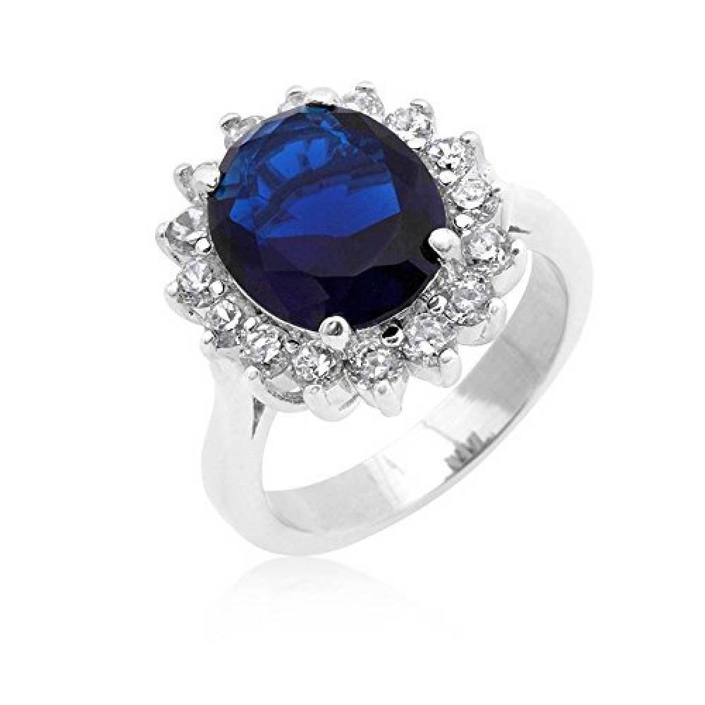 ISADY - Gina - Bague Femme - Oxyde de zirconium bleu