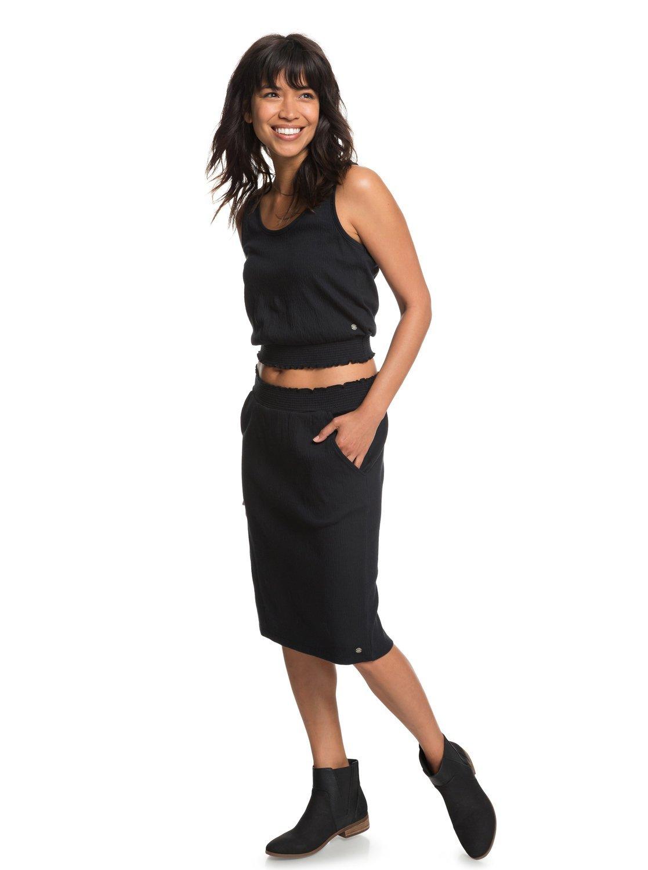 Roxy Womens I Feel Fine - Midi Skirt - Women - M - Black True Black M