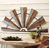 Cheap Black Forest Decor Large Metal Half Windmill Wall Hanging