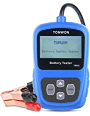 Car Battery Tester, Auto Battery Digital Analyzer TONWON Electric Battery Load 12V Tester Directly Detect Bad Battery Check Battery Health(TW10)