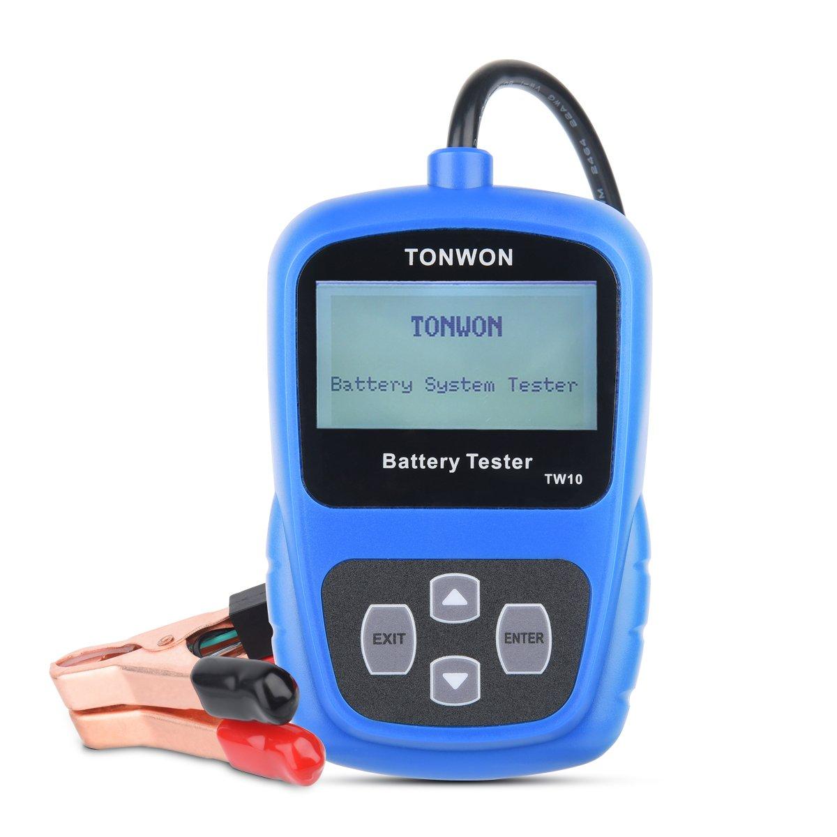 TONWON Battery Tester Automotive Load Battery Tester Car Battery Analyzer on Cranking System, Charging System and Battery System for 12V Car and Light Truck