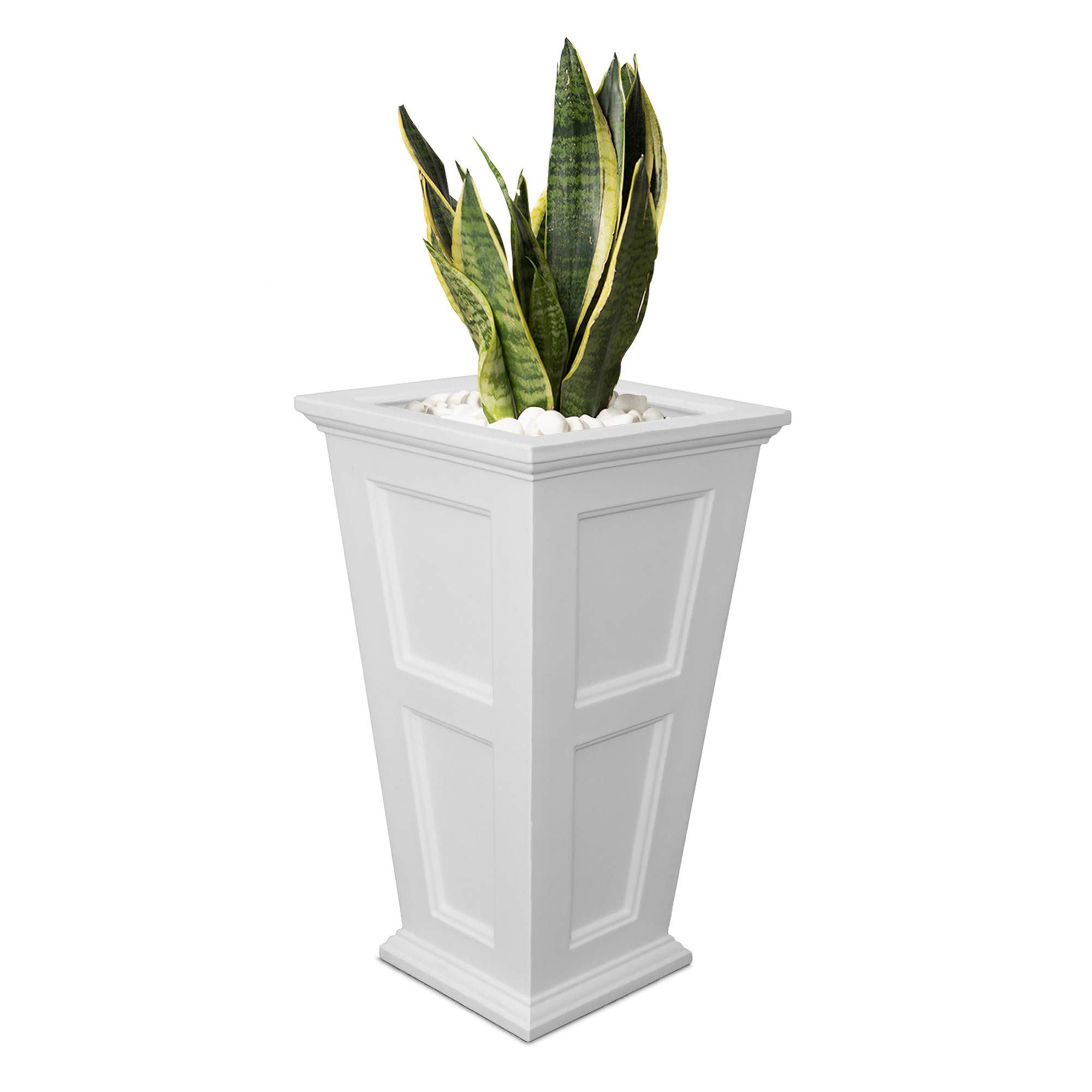 Mayne Fairfield 5829w Tall Planter 28 Inch By 16 Inch By 16 Inch White Buy Online In Saint Lucia At Saintlucia Desertcart Com Productid 12175745