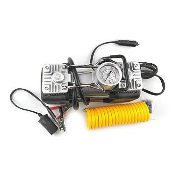 12V 150PSI portátil 2 del coche del cilindro del compresor de aire universal para coches Camiones,negro y plata: Amazon.es: Bebé