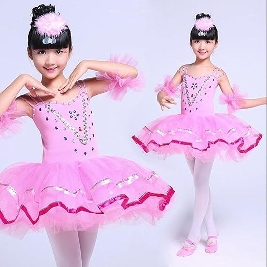 437162c7e9b SMACO Bailarina Disfrazarse para Niñas Disfraz De Baile Ballet Tutú Ligas  para Niños Lentejuelas Tutú Rojo Amarillo Rosa  Amazon.es  Deportes y aire  libre