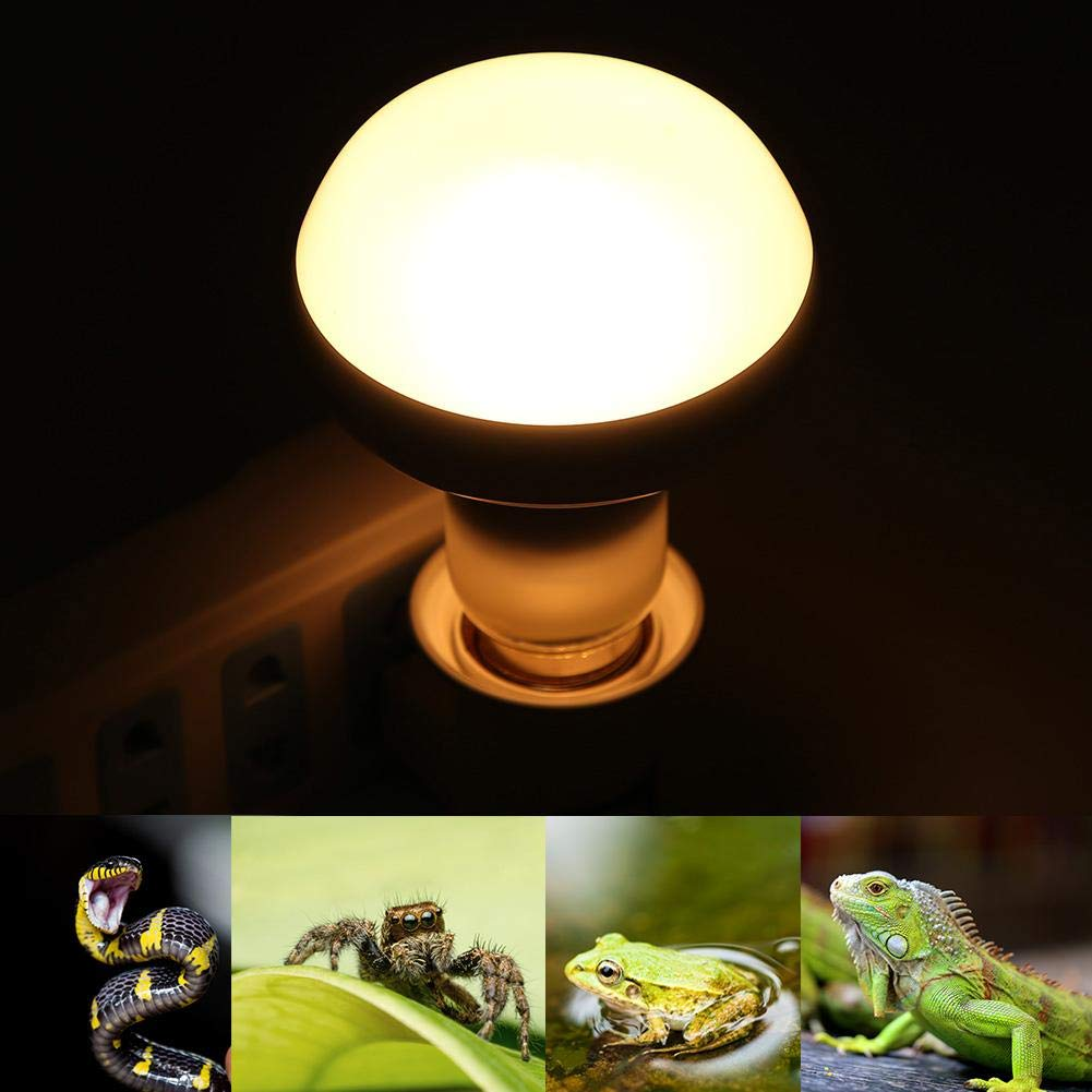 75W Zerodis Reptile Light Bulb 220-240V Tortoise Heat Light Lamp Full Spectrum Heating Blue Bulb for Reptile Pet Amphibian