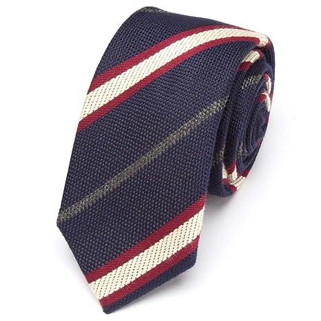 WOXHY Hombres Corbata de Lujo de la Raya de la Moda Delgado Empate ...
