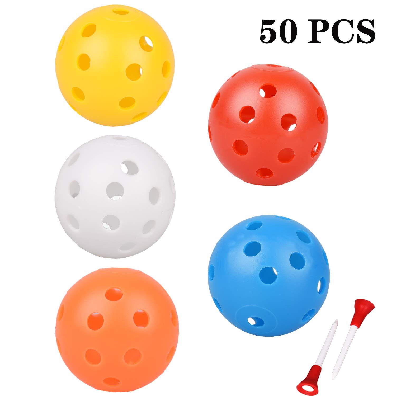 Adwikoso Plastic Golf Training Balls (Mixed 50Pcs) by Adwikoso