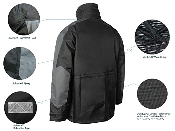 6e8628066386 Amazon.com   Navis Marine Coastal Sailing Jacket with Bib Pants Fishing  Rain Suit Foul Weather Gear   Sports   Outdoors