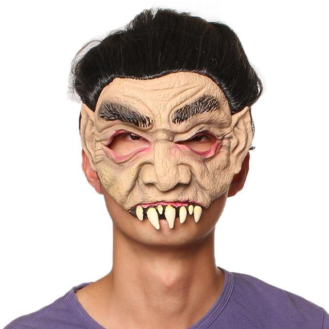 SaiDeng Halloween Máscara De Miedo Dientes Afilados Adultos Fiesta De Disfraces