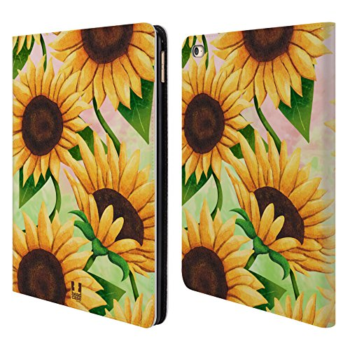 Head Case Designs Sunflower Organic Florals Leather Book Wallet Case Cover for iPad Air 2 (2014)