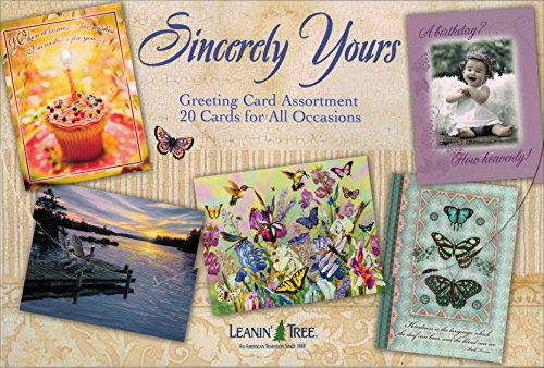 Sincerely Yours - All Occasion Greeting Card Assortment Boxed Greeting Cards - 20 Cards & 22 Envelopes Boxed Assortment