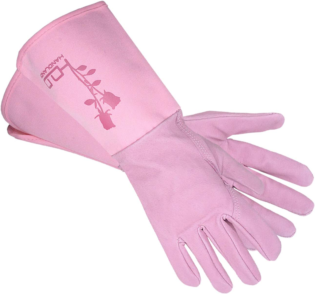 Professional Gardening Gloves Rose Pruning Gloves for Women with Durable Thick Piskin and Thorn & Cut Proof with Long Forearm Protection (M, Pink)