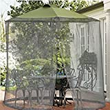 Shatex Umbrella Mosquito Patio Table Screen and net 11'W x 7.2'H Grey