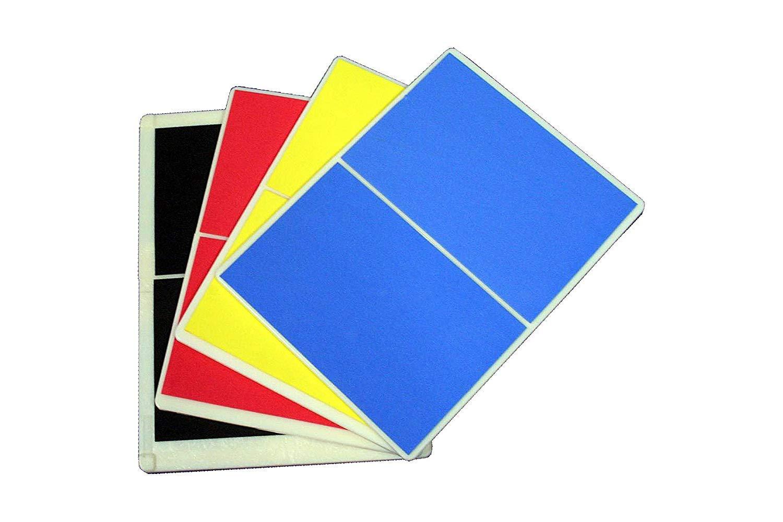 Economy Rebreakable Board Taekwondo, MMA, Karate, Martial Art (Child - Yellow; Easy - Blue; Average - Red; Hard - Black) (Set 4 (4 Colors)) by Masterline