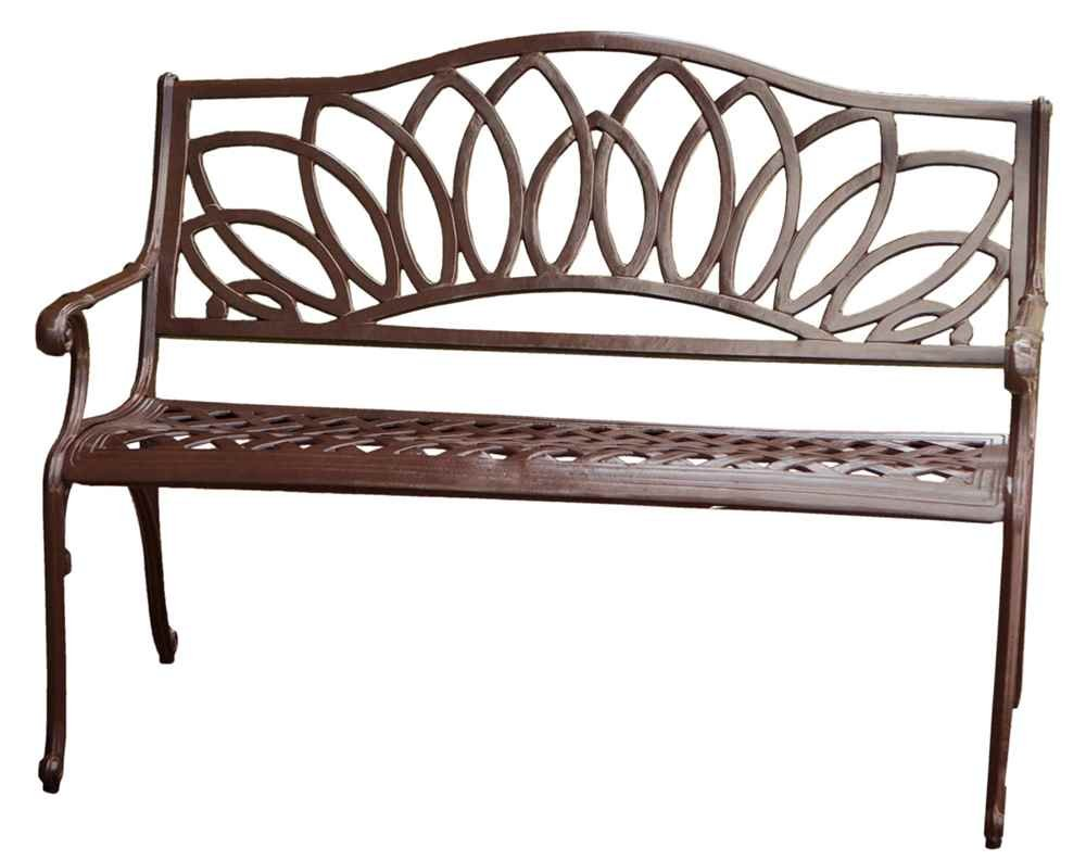 Amazon.com : Best Selling Spiral Cast Aluminum Outdoor Bench : Outdoor  Metal Bench : Garden U0026 Outdoor