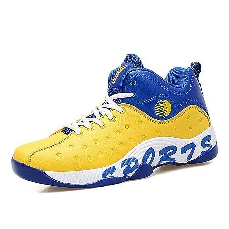 FJJLOVE Zapatos De Baloncesto, Baloncesto Hola-Top Botas Absorción ...