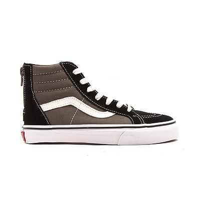 d51365878 Vans Junior Sk8-Hi Zip 2 Tone Canvas/Suede Trainer Black/ Charcoal Size 10:  Amazon.co.uk: Shoes & Bags