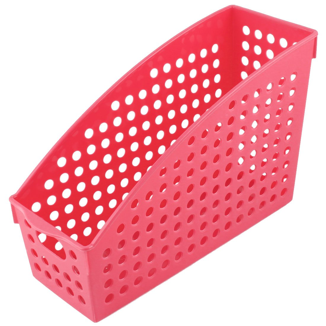 uxcell Plastic Home Office School Paper Book Document File Holder Storage Basket Red