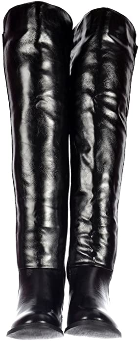 Details about  /Women/'s Round Toe Cuban Heel Knee High Thigh Lycra Stretchy Riding Boots Pull On
