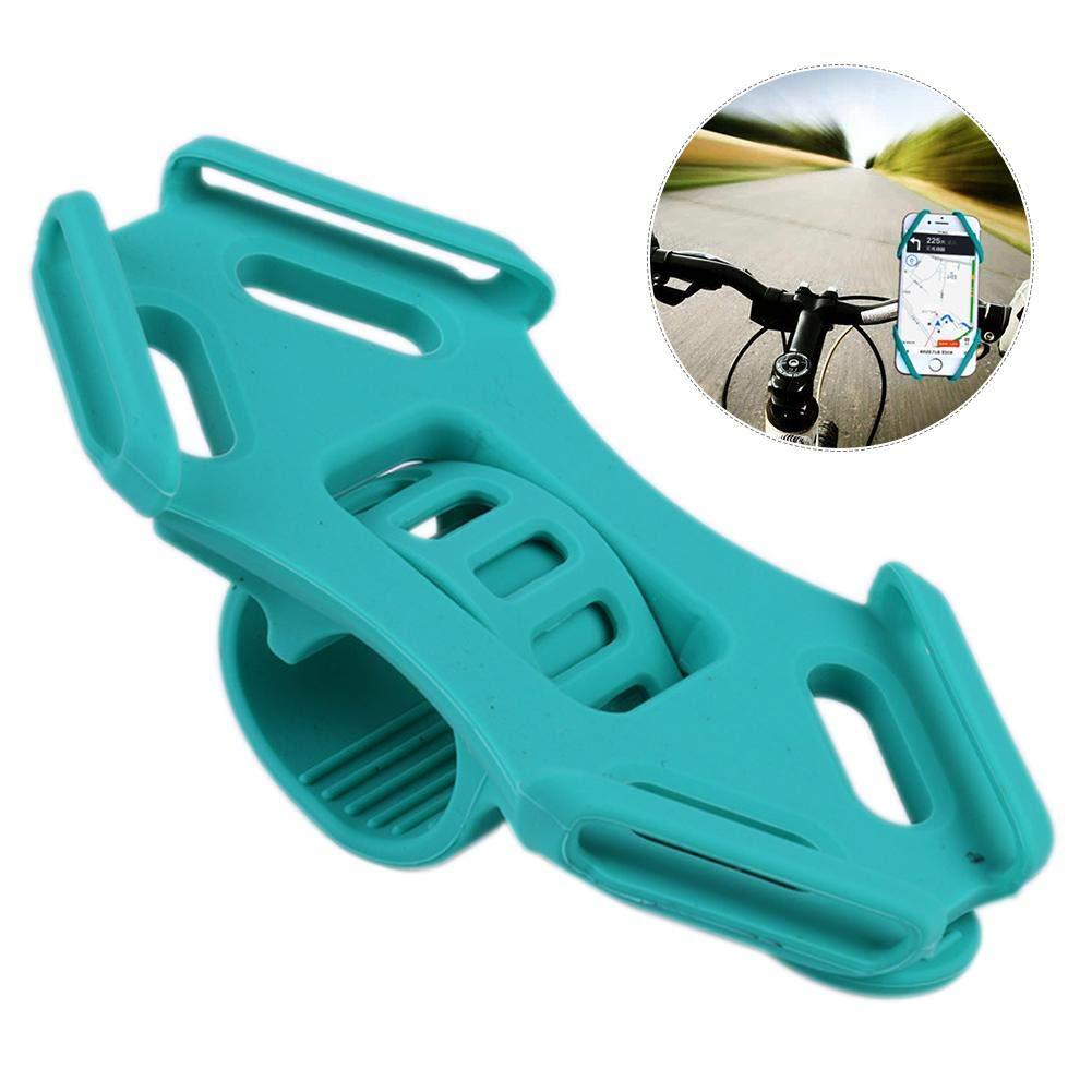 PER Silikon Kinderwagen Handyhalter mit verstellbarem Gurt Universal Fit für iPhone, Samsung Galaxy auch für Fahrrad Warenkorb-rot