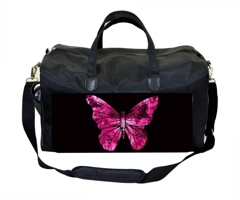 Purple Grunge Butterfly Gym Bag