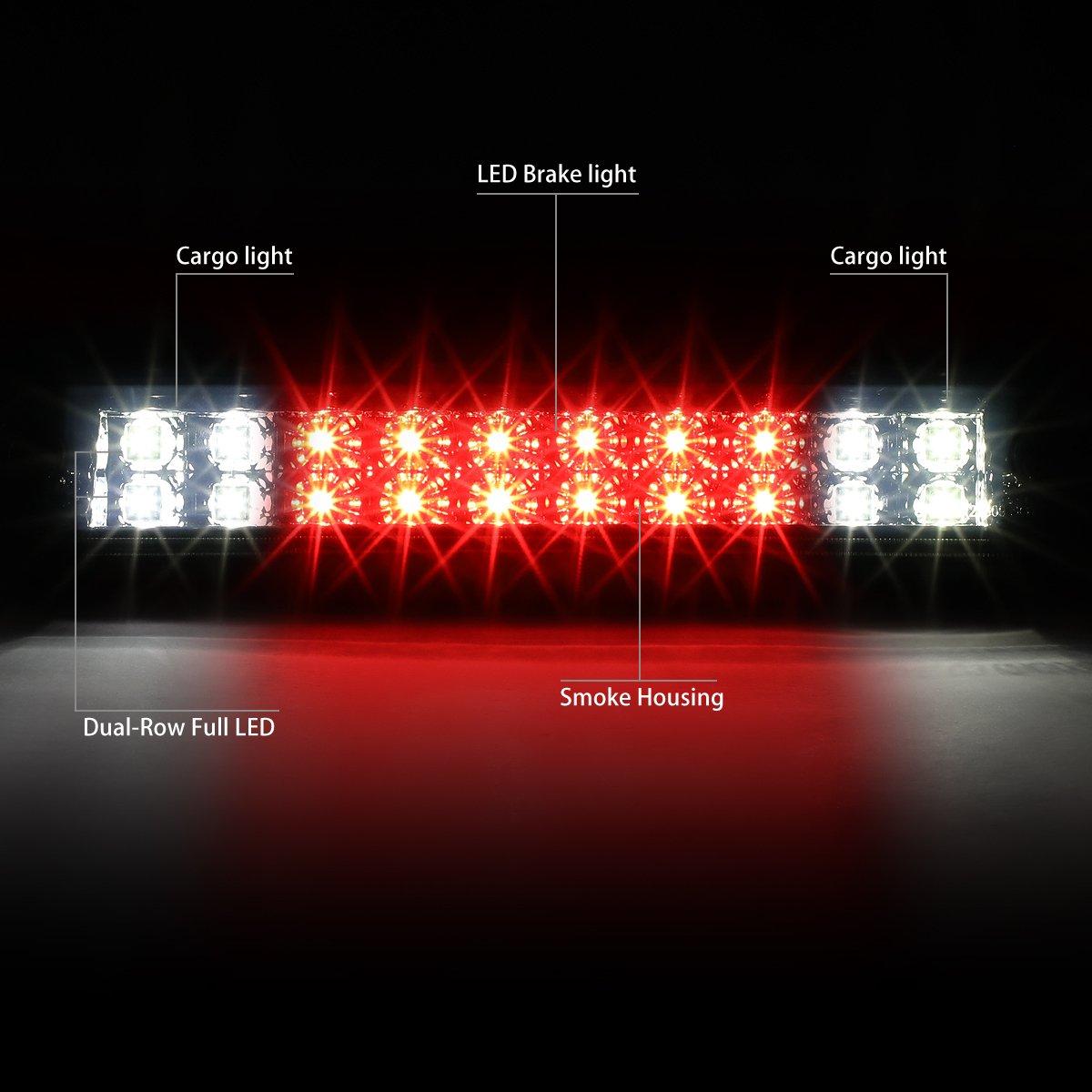 Smoked Lens DNA MOTORING 3BL-F15012-LED-SM LED Third Brake Light