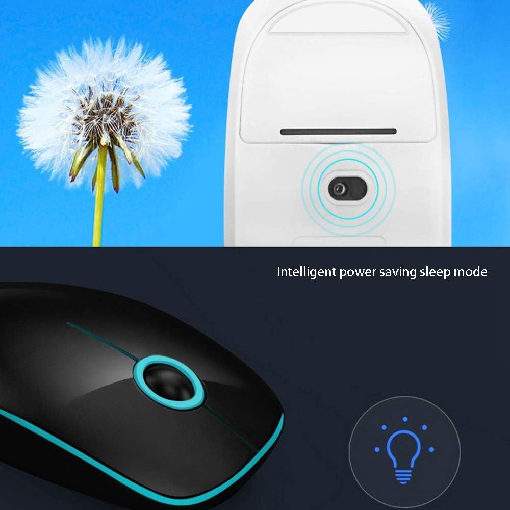 Souris Optique sans Fil pour Ordinateur Portable (Color : White) Black