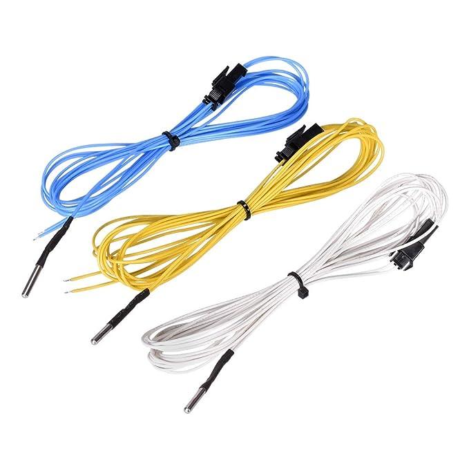 BouBou Azul/Amarillo/Blanco 2M Ntc 3950 Sensor De Termistor De ...
