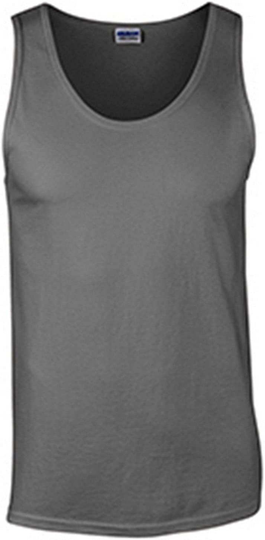 Gildan mens Ultra Cotton 6 oz. Tank(G220)-CHARCOAL-XL