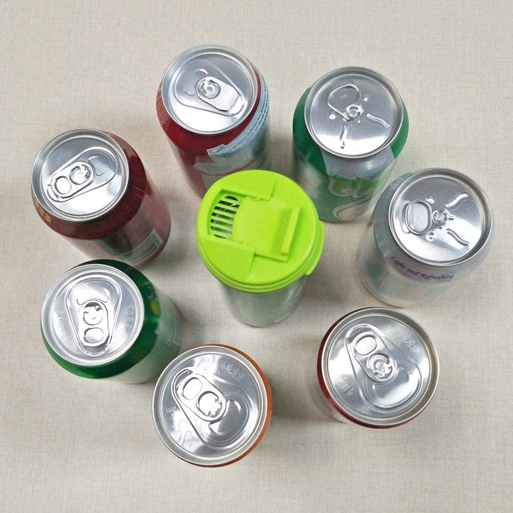 4Pcs Plastic Leakproof Cup Caps Sealing Lid Soda Beverage Top-pop Can Cover Safe