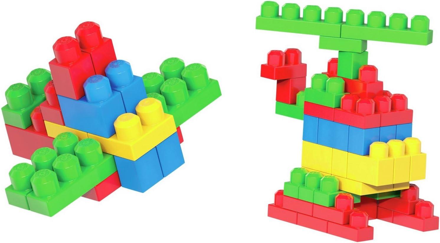 Nouveau Elegant MegaBloks First Builders Tube W5 D7.5cm 100 pieces taille H91