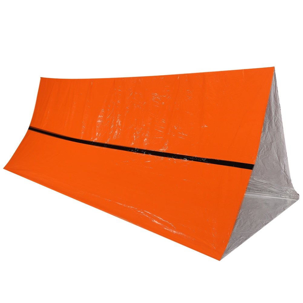 Survival Shack Emergency Survival Shelter Tent,2 Person Mylar Thermal Shelter Cold Weather Tube Tent Lightweight Waterproof