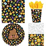 LOL Emoji Birthday Party Supplies Deluxe Bundle Pack for 16 Guests