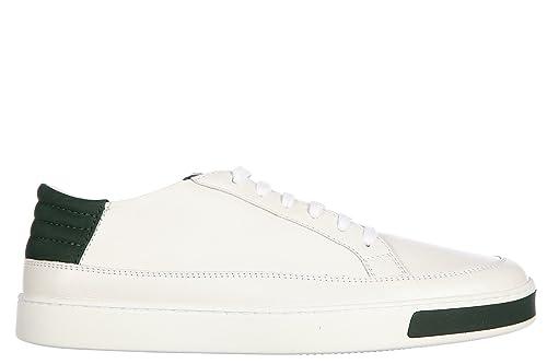 Gucci Scarpe Sneakers Uomo in Pelle Nuove Miro Soft Ayers Bianco  Amazon.it   Scarpe e borse c78e4c8ea81
