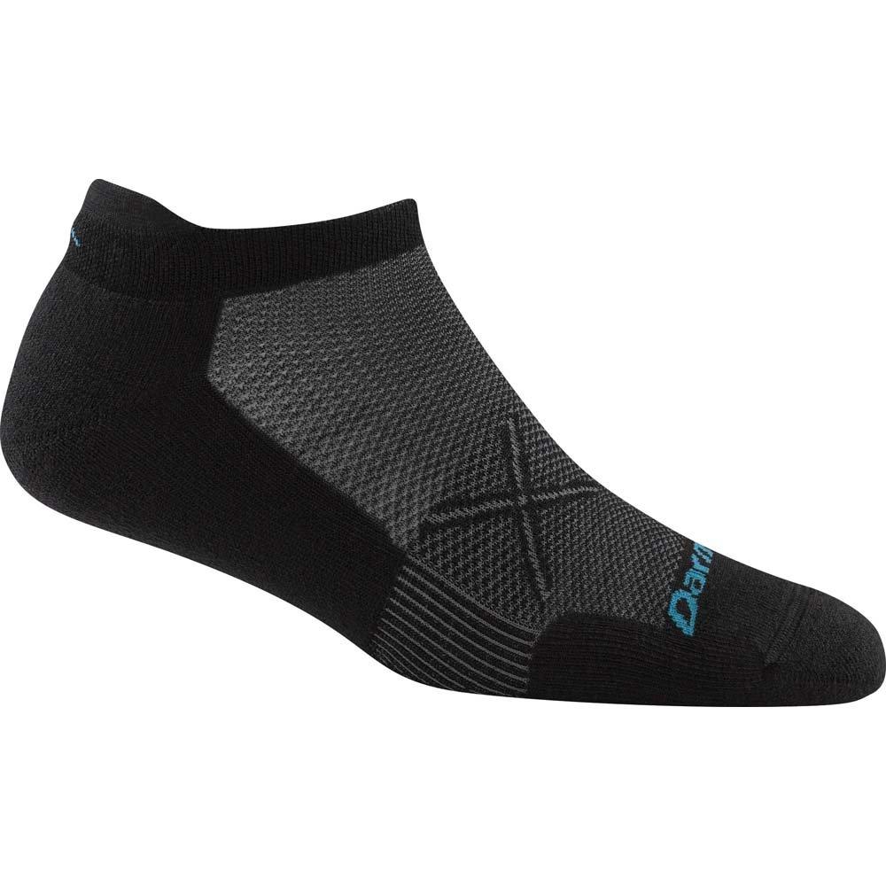 Darn Tough Vertex No Show Tab Ultralight Sock - Women's Black/Gray Medium (Past Season)