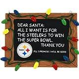 Pittsburgh Steelers Resin Chalkboard Sign Ornament