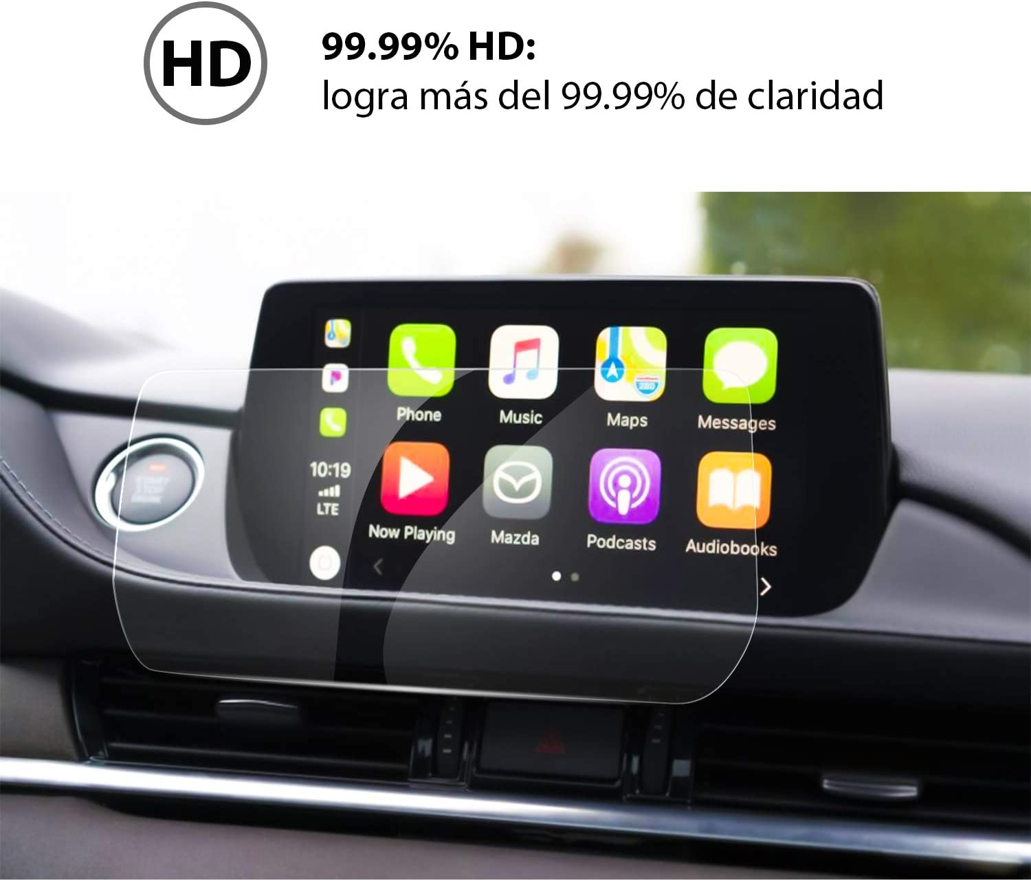 YEE PIN Mazda6 Navigation Touch Screen Protector for 2018 2019 Mazda 6 8in Center Touch Display Anti Scratch High Clarity Tempered Glass Protective Film