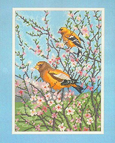 Elsa Williams Counted Cross Stitch Kit - Goldfinch and Grosbeak - Kit Number 06424 (Elsa Williams Cross Stitch)