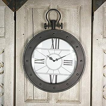 Cgm Horloge Murale Style Industriel Loft Fer Creative