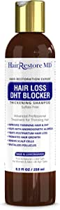"Hair LOSS DHT BLOCKER SHAMPOO""Sage & Lemongrass"", Biotin Hair Growth Volumizing Thickening Caffeine Shampoo, Hair Loss Thinning Hair, Regrowth Thickening Products for Men & Women, Sulfate Free"