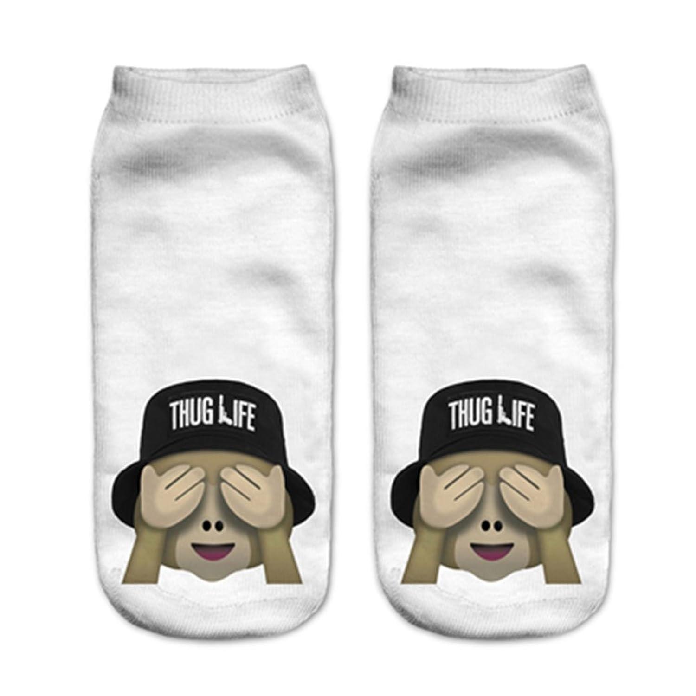 Doxi Girls Teens 3d Printed Socks Pattern Low Cut Ankle Socks