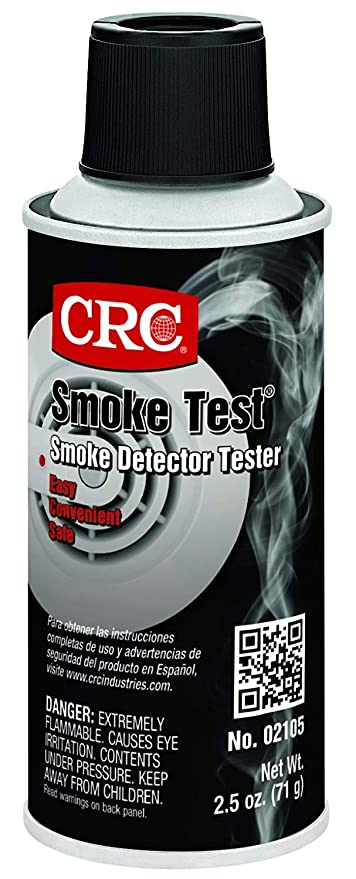 2105 Smoke Test Brand Liquid Smoke Detector Tester, 2.5 oz Aerosol Can, Clear (Limited Edition) - - Amazon.com