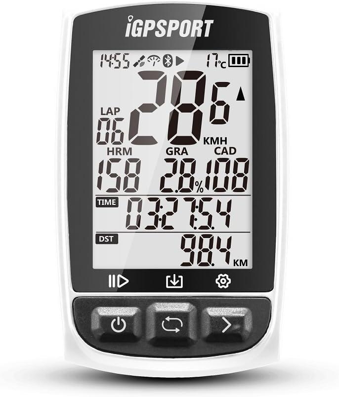 Ciclocomputadores GPS Ant+ Función iGPSPORT iGS50E Computadora Bicicleta Inalámbrica Ciclismo Cuentakilometros Bici - Blanco